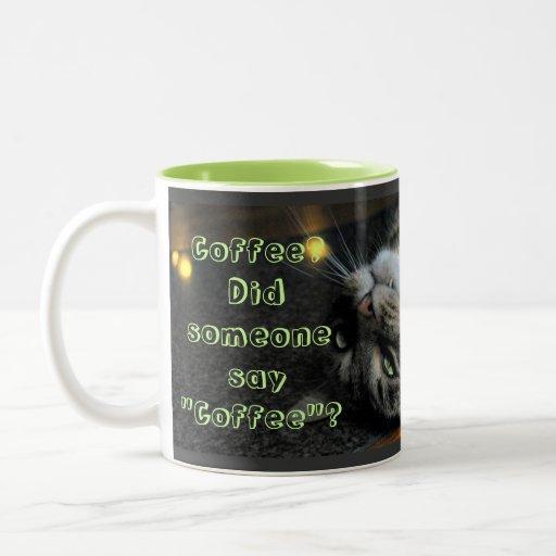 Taza de café chistosa del gato