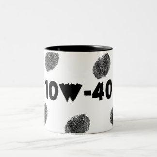 Taza de café chistosa del mecánico 10W40 de la rep
