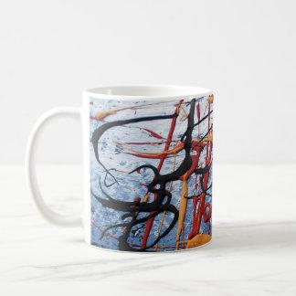 Taza de café clásica abstracta asiática oriental