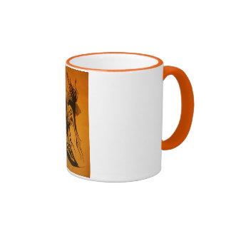 Taza de café clásica con claigraphy dibujado mano