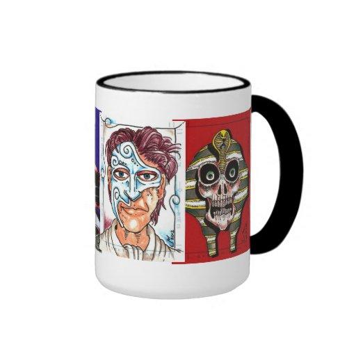 Taza de café clásica de las novelas de suspense de