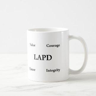 Taza de café clásica que honra la policía de Los