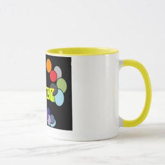 Taza de café coloreada multi del punto de Groovey
