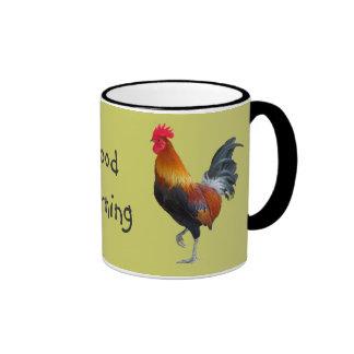 """Taza de café colorida de la """"buena mañana"""" de los"""