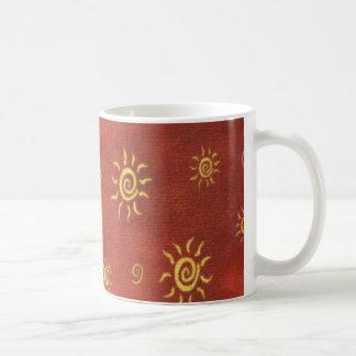 Taza de café colorida de la diversión al sudoeste