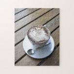Taza de café con crema rompecabeza