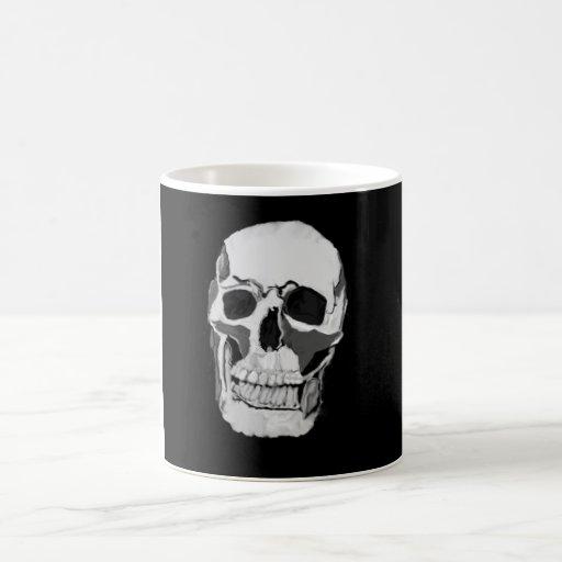 taza de café con el esqueleto