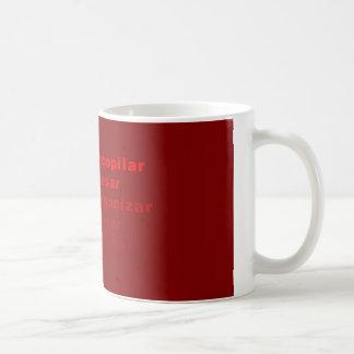 Taza de café con el flujo GTD