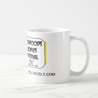 Taza de café con el logotipo del festival de los t