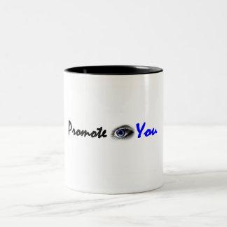 Taza de café con el logotipo horizontal