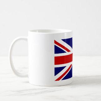 Taza de café con la bandera británica de Union Jac