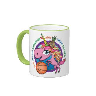 Taza de café con sabor a fruta del unicornio