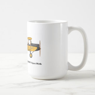 Taza de café con un biplano en él