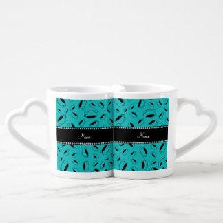 Taza de café conocida personalizada de la turquesa tazas amorosas