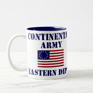 Taza de café continental americana del ejército