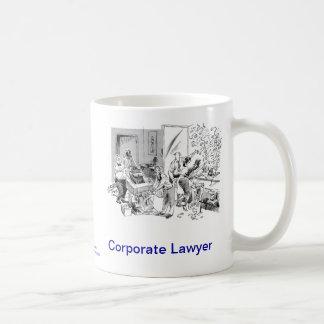 Taza de café corporativa muerta del abogado de Law