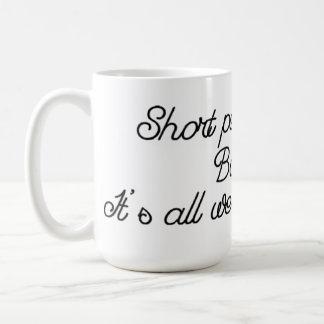Taza de café corta del extremo del retroceso de la