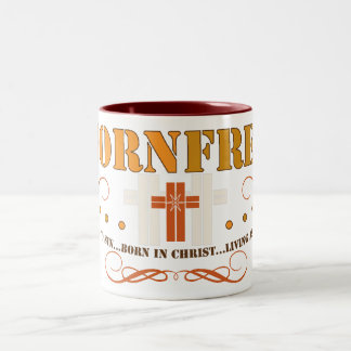 Taza de café cristiana libre nacida