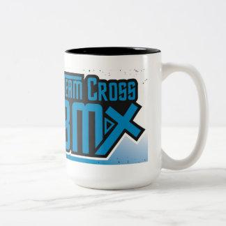 Taza de café cruzada del equipo BMX