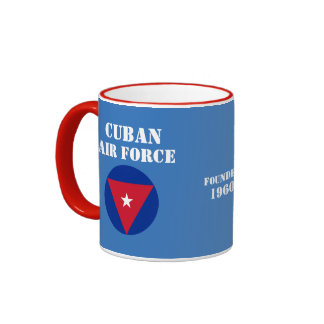 Taza de café cubana de Roundel de la fuerza aérea