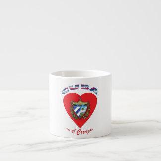 Taza de Café Cubano Expreso - Corazón de Cuba 4 Espresso Cup