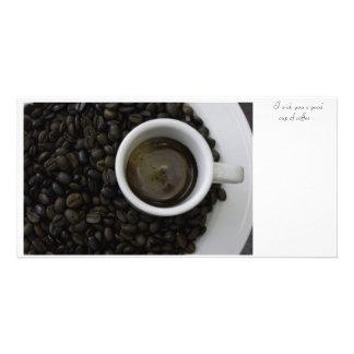 Taza de café/Cup of coffee Tarjeta Personal Con Foto
