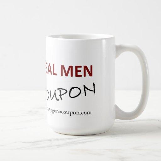 Taza de café - cupón real de los hombres