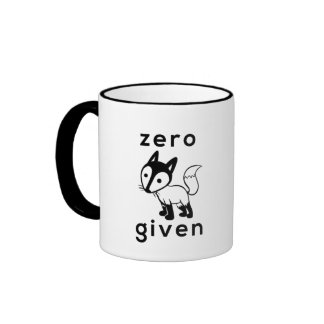 Taza de café dada Fox cero