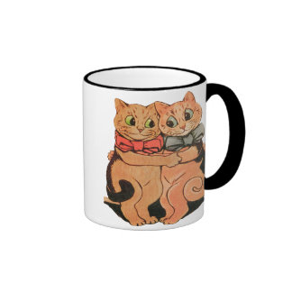 Taza de café de abrazo de los gatos