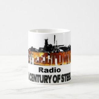 Taza de café de acero de la ciudad
