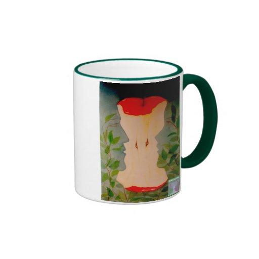 Taza de café de Adán y de Eva