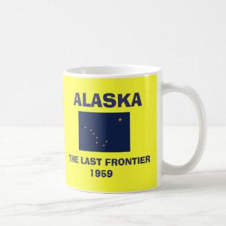 Taza de café de Alaska AK* Alaska-Flagge
