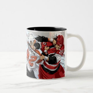 Taza de café de antaño del hockey