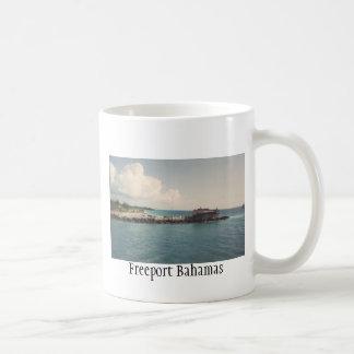 Taza de café de Bahamas del puerto franco
