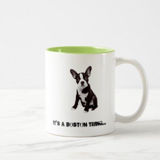 Taza de café de Boston Terrier