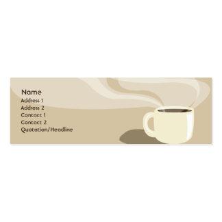 Taza de café de Brown - flaca Tarjetas De Negocios