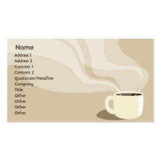 Taza de café de Brown - negocio Tarjetas De Negocios