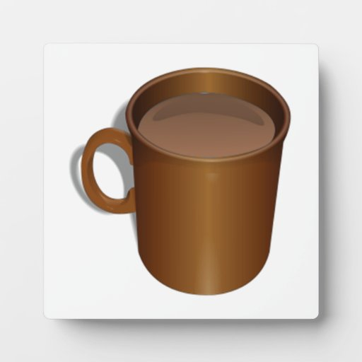 Taza de café de Brown Placas Con Foto