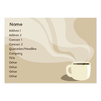 Taza de café de Brown - rechoncha Tarjeta De Visita