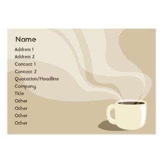 Taza de café de Brown - rechoncha Tarjetas De Visita Grandes