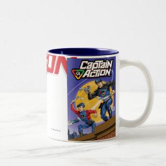 Taza de café de capitán Action Retro