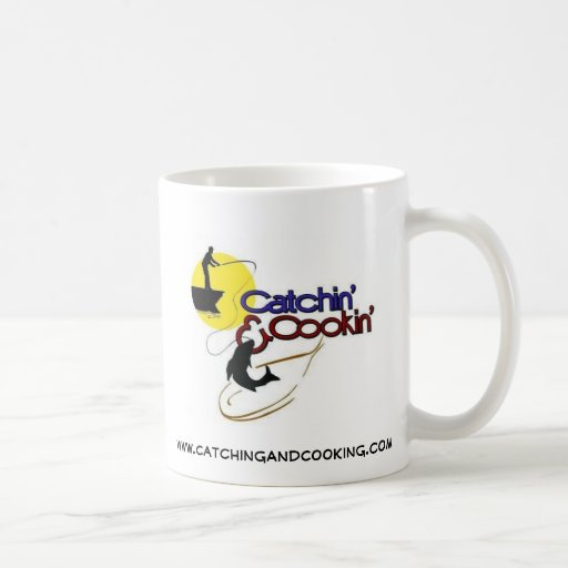 Taza de café de Catchin y de Cookin