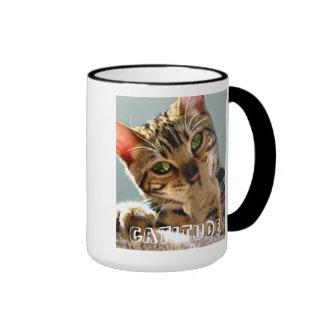 Taza de café de Catitude del gato de Bengala