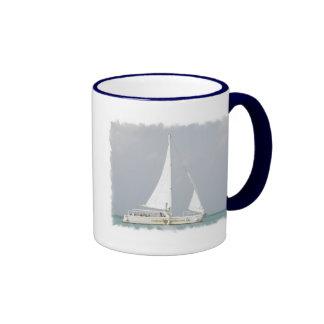 Taza de café de cerámica de la embarcación de recr