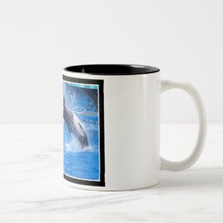 Taza de café de cerámica de la foto de la ballena