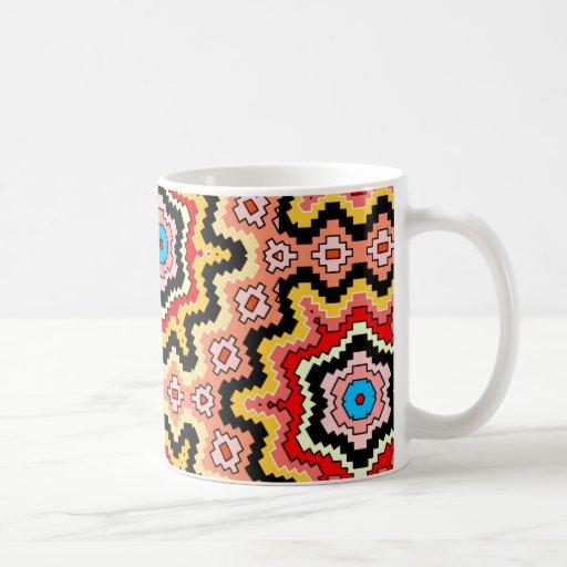 taza de café de cerámica de los starbursts aztecas