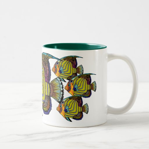 Taza de café de cerámica del Angelfish de Daorges
