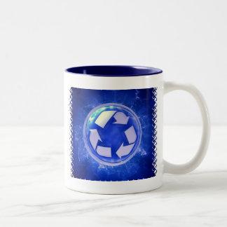 Taza de café de cerámica del ciclo vital