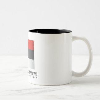 Taza de café de ciclo del equipo de Cincinnati de