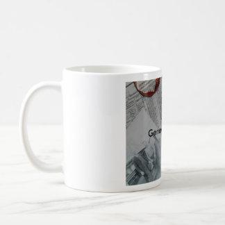 Taza de café de color de ante de la genealogía
